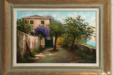 Casa in Riviera - Olio - 60x40