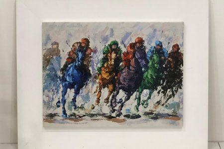 Competizione a cavallo - litografia 40x50