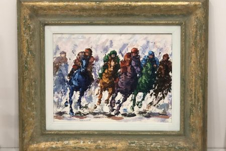 Competizione a cavallo - tela 40x50
