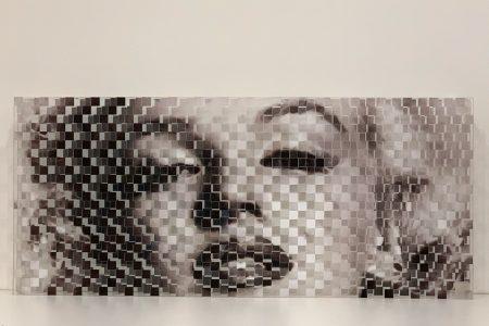 Marilyn - scomposizione visiva 30x80
