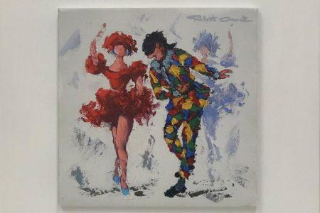 Passi di danza - litografia autografata 25x25