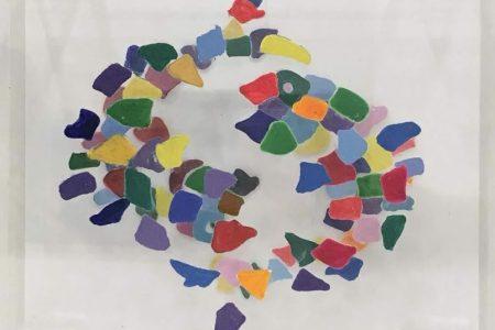 Pesci - scomposizione visive - Segni Zodiacali colorati 20x20
