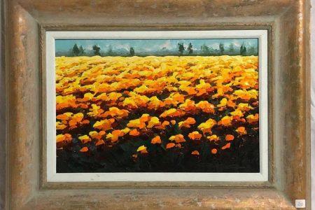 Un mare di fiori - Olio - 30x45