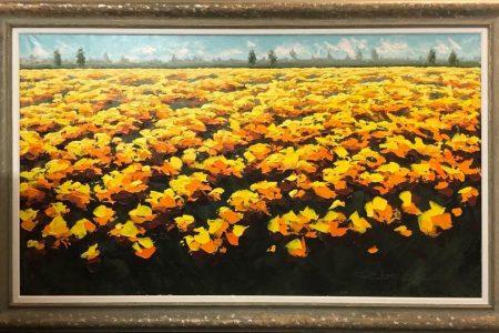 Una distesa di fiori - Olio - 80x140